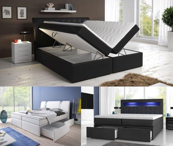Boxspringbett mit zwei Bettkasten 140, 160 oder 180x200 weiß oder schwarz | Möbel & Wohnen, Möbel, Betten & Wasserbetten | eBay!