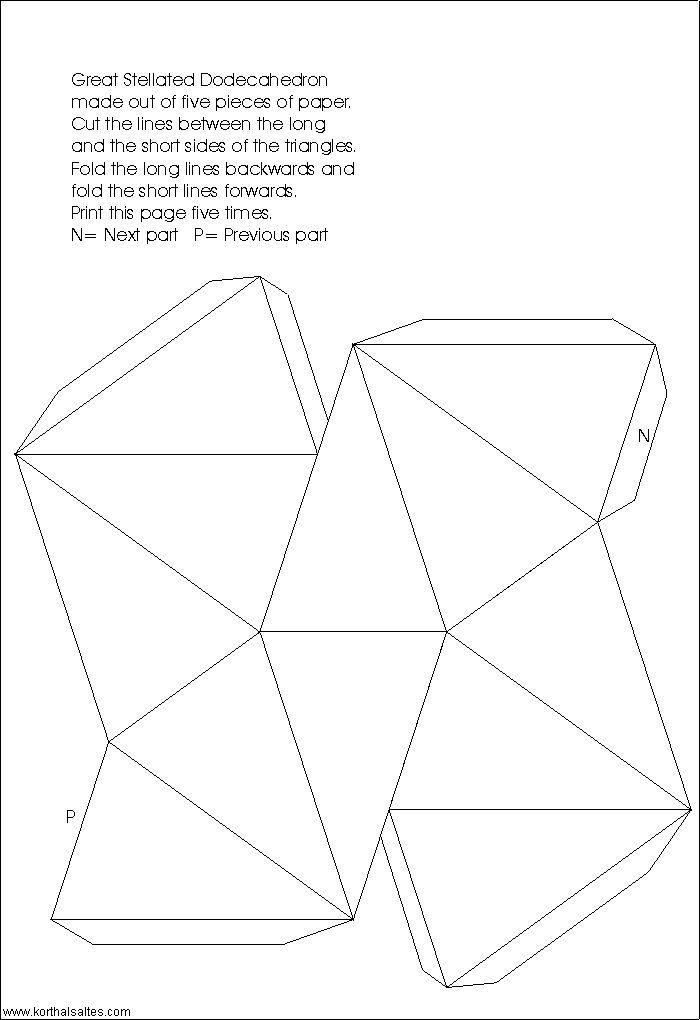 modelo de papel de un gran dodecaedro estrellado