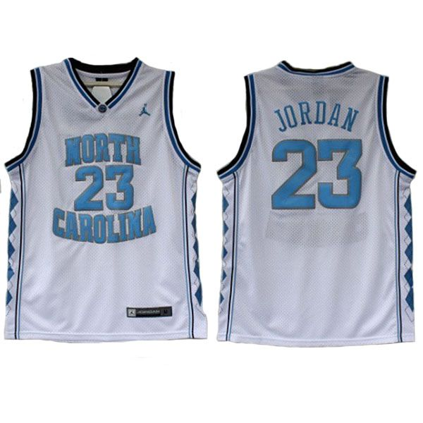Michael Jordan College Jersey is the #23 home jersey of University of North Carolina Tar Heels. The name and numbers are stitched.
