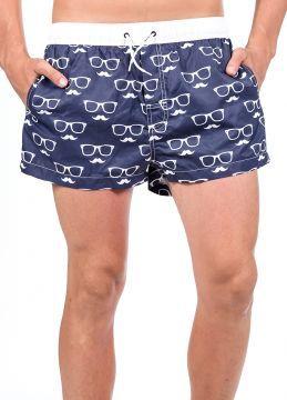 Mavi Kısa Tarz Erkek Mayo Deniz Şortu