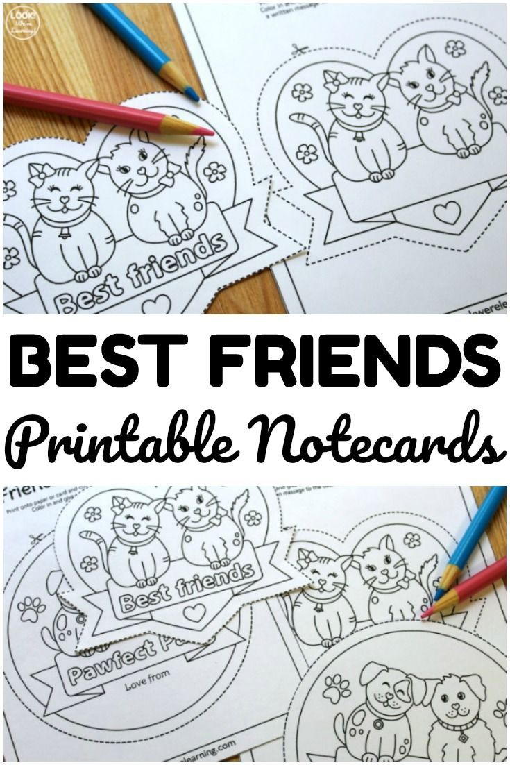 Best Friends Printable Friendship Cards For Kids Friendship Printables Friendship Cards Printable Friends
