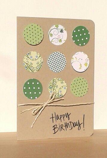 Geburtstagskarte Circle