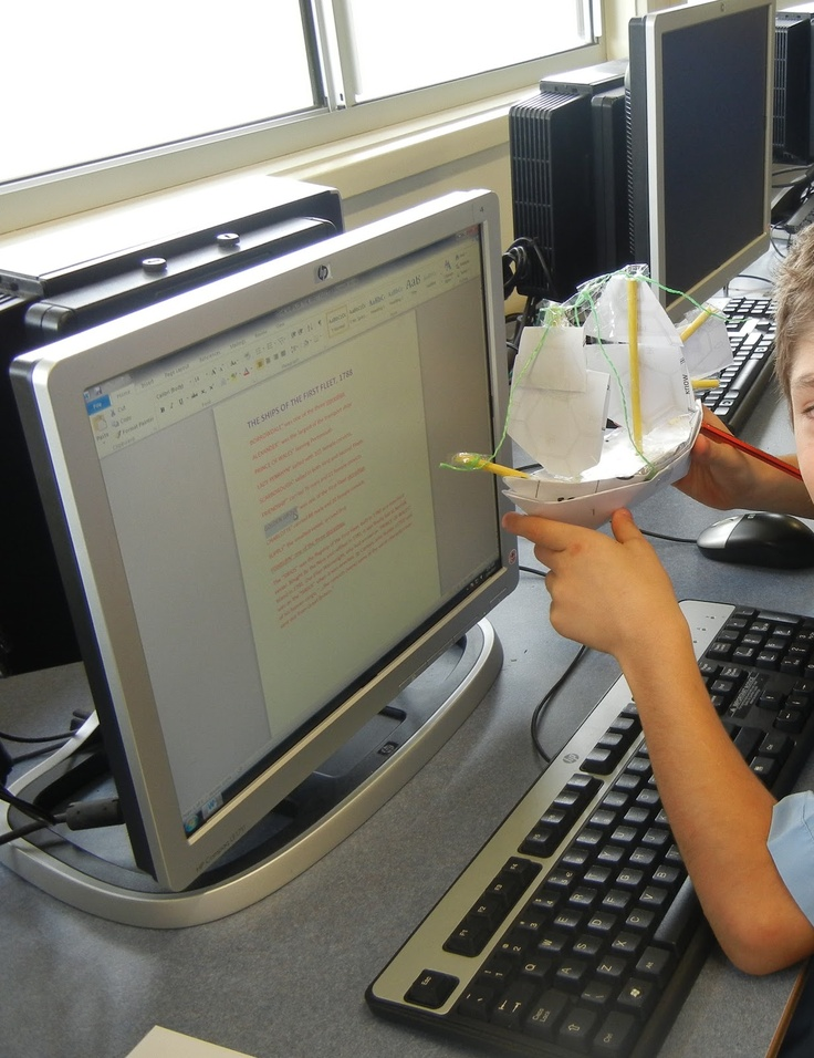 First Fleet - Task was to research about the First Fleet and make a ship. A 'Hands-On' task to engage young designers!