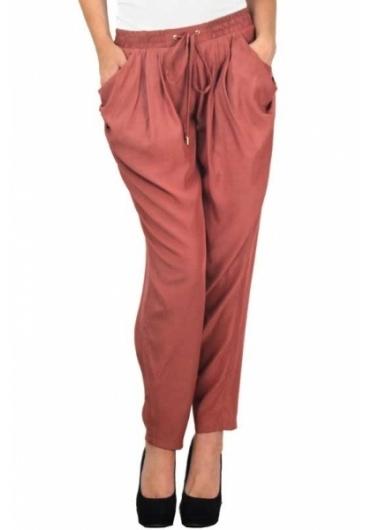 Weekend Wonder Lightweight Pants in Brick Color - Apparel