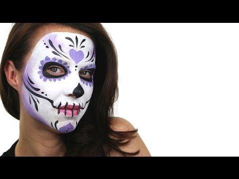 Beginners Sugar Skull Face Painting Tutorial | Snazaroo - YouTube