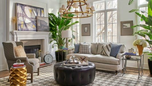 The beautiful Melrose Living Room curated by Jeff Lewis and team is available exclusively from Walter E Smithe Furniture + Design.  Stop by one of our Chicago area locations or online at Smithe.com.