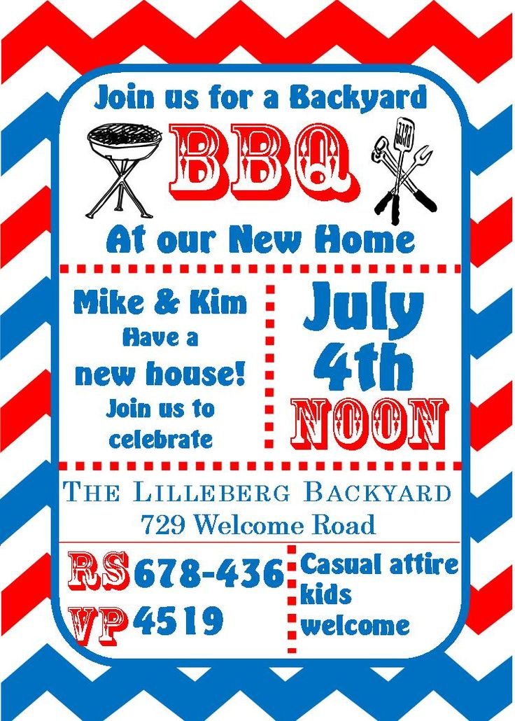 61 Best Images About 4th Of July Party Invitations On