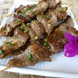 Asian Beef Skewers A delicious Protein!