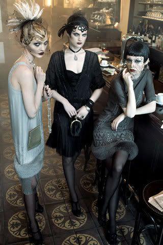 Steven Meisel photographed Sasha Pivovarova, Guinevere van Seenus and Coco Rocha for Vogue.