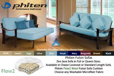 Zen Futon Frame | Wool Futon Sofa Bed Set #asian #upholstery #upholstery #futon #mattress