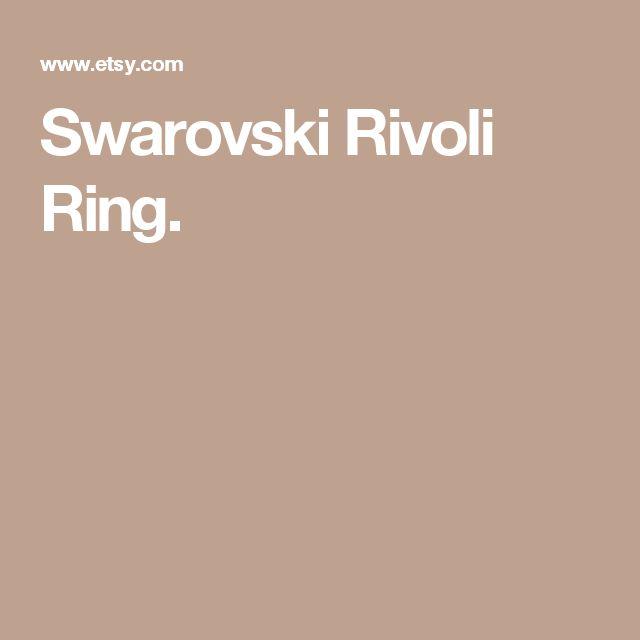 Swarovski Rivoli Ring.