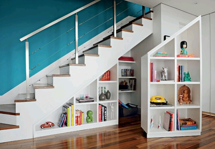 estantes bajo escalera dise o pinterest house On estantes para bajo escalera