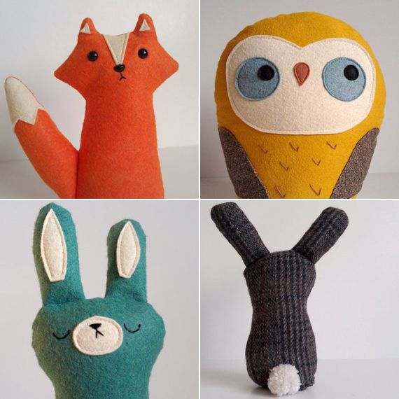 so cute. i love plushies and i think they would be fun to make but my dogs would just steal and eat them