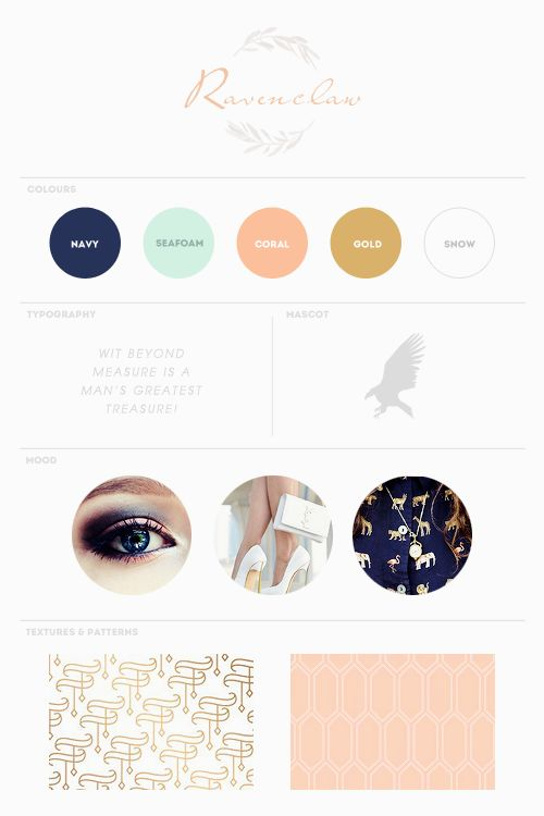 forever and ever, kid | Ravenclaw mood board | colors | typography | mascot | mood @Stephanie Newcomb