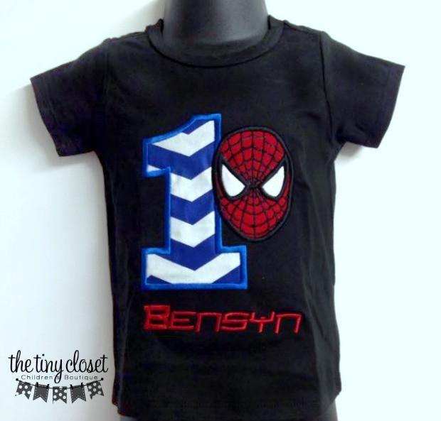 Personalized Spiderman Birthday Design - Large Royal Chev