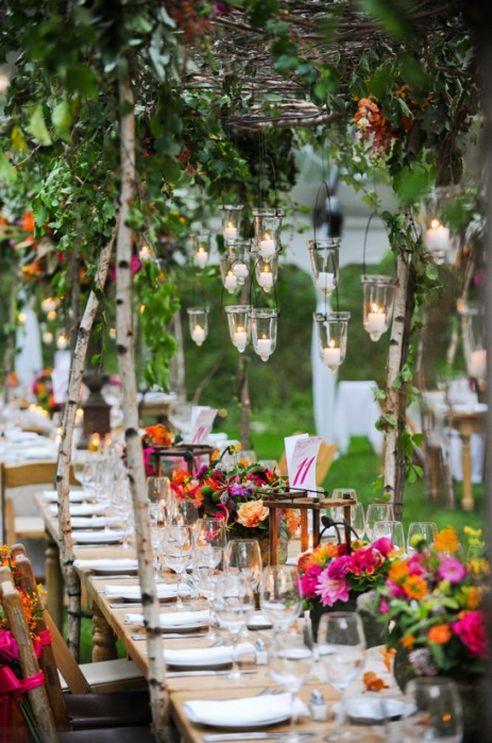 Pretty nature wedding reception