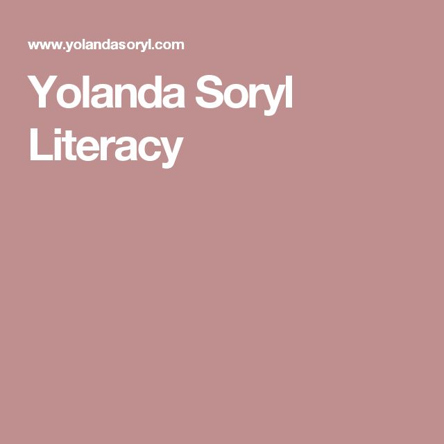 Yolanda Soryl Literacy