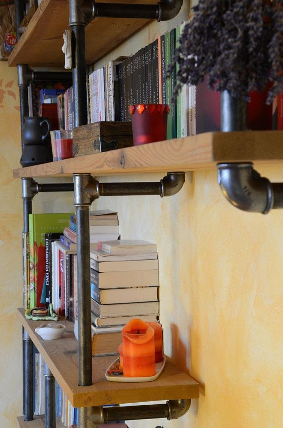 Industrial Living room pipe shelf modern pipe shelving unit