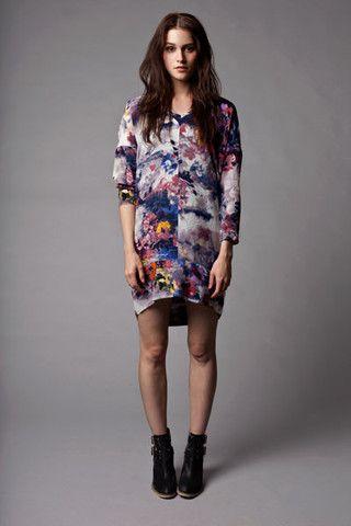 Primness silk printed dress x