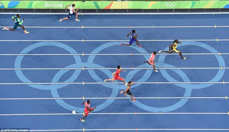 Adam Gemili (top lane) struggled to match the pace of the other sprinters over…