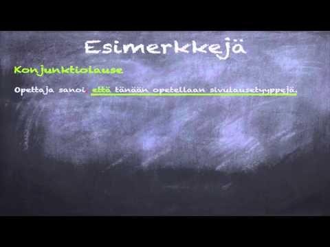 Suomen kieli: Sivulausetyypit - YouTube