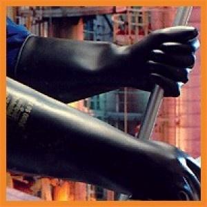 Guantes CHEMPROTEC SC107 - Excelente resistencia contra abrasión y rasgado. Cubre todo el brazo.  Látex pesado.    http://www.janfer.com/es/riesgos-quimicos/178-guantes-chemprotec-sc107.html