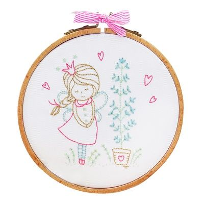 "DMC Embroidery Kit ""Shy Fairy"" by Tamar Nahir-Yanai 