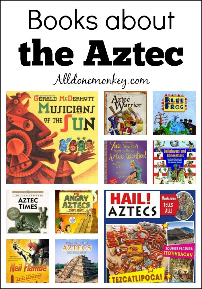 Learn about the Aztec with these great books for kids, including folktales, studies of everyday life, and humorous works.