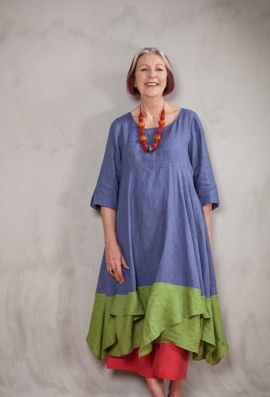 Summer Handkerchief Dress in linen - Terry Macey and Angelika Elsebach Spring / Summer Collection 2015