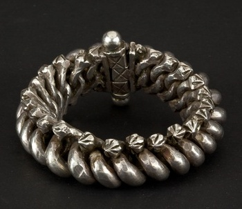 India | Silver bracelet from Rajasthan | ca. 1st half of 20th century.