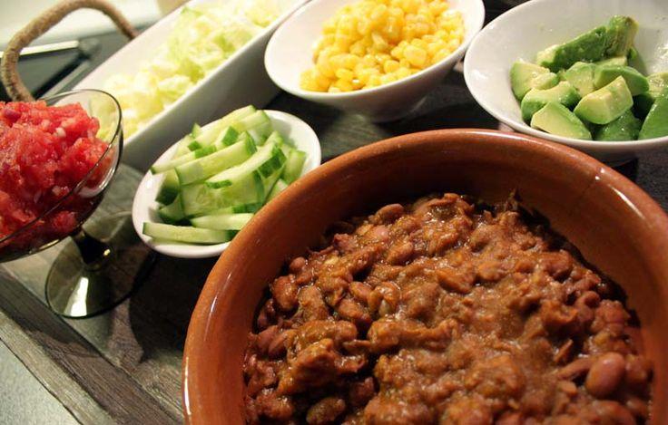 Oppskrift Vegan Vegetar Taco Bønnestuing Hjemmelaget Tacokrydder Vegetartaco