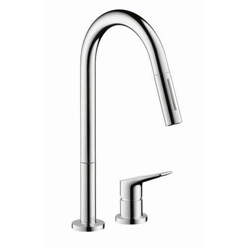Hansgrohe 34822001 Axor Citterio M 2-Hole Kitchen Faucet, Pull-Down - Chrome (Kitchen Faucets - Single Handle Kitchen Faucets) - faucet direct.com
