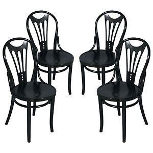 liberty black thonet four chairs
