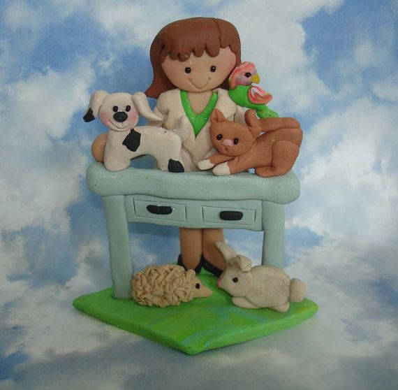 Polymer Clay  Milestone Veterinarian Cake by alongcameaspider1: