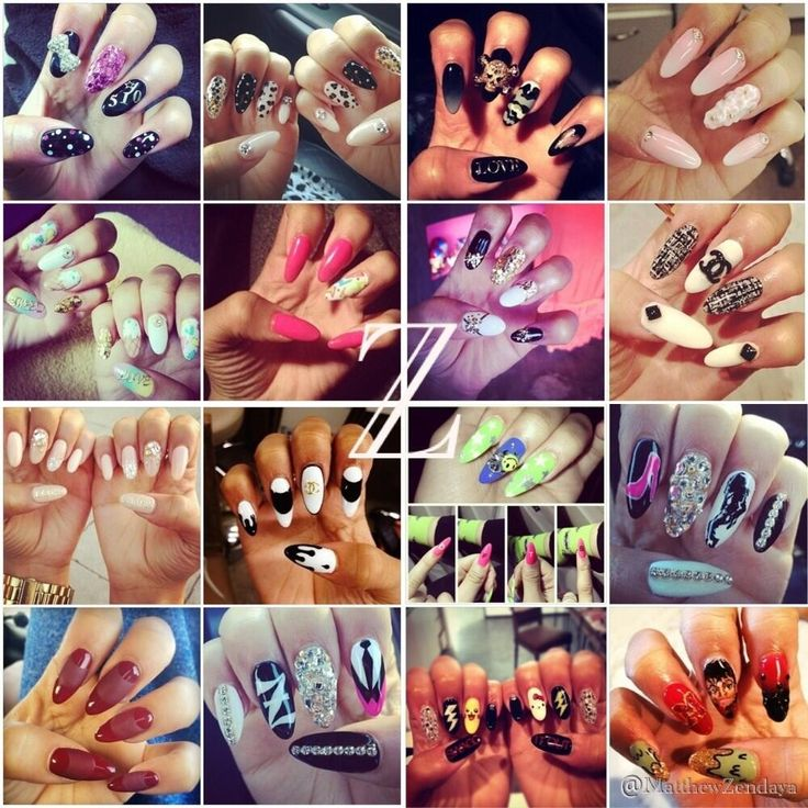 Zendaya is so inspiring and I think these nails show who she really is.I LOVE HER!!!!!!!!!