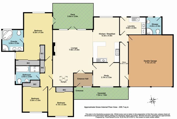 Enhanced Layout - 3 Bedroom - 226 sq.m - FloorPlans24 delivers a solution that works for YOU – Talk to us…