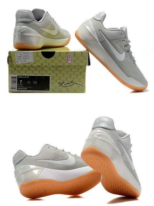 a6e7e3c3c3e8 2017 New Arrival Latest Latest Kobe AD Light Bone White Pale Grey Sole Gum  For Cheap