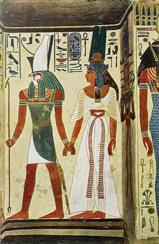 Standing nefertari from the wall decorations in the tomb for Ancient egyptian tomb decoration
