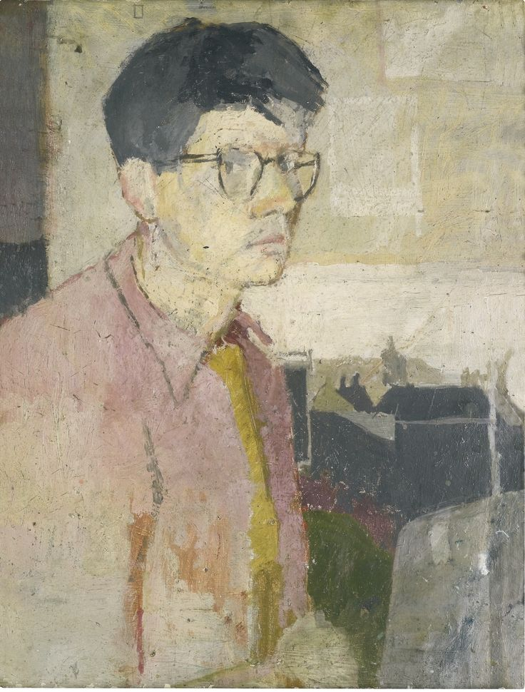 "fuckyeahdavidhockney:  enversendroit:  ""Self Portrait"" David Hockney, 1954  Some very early work (around 17 years old)"