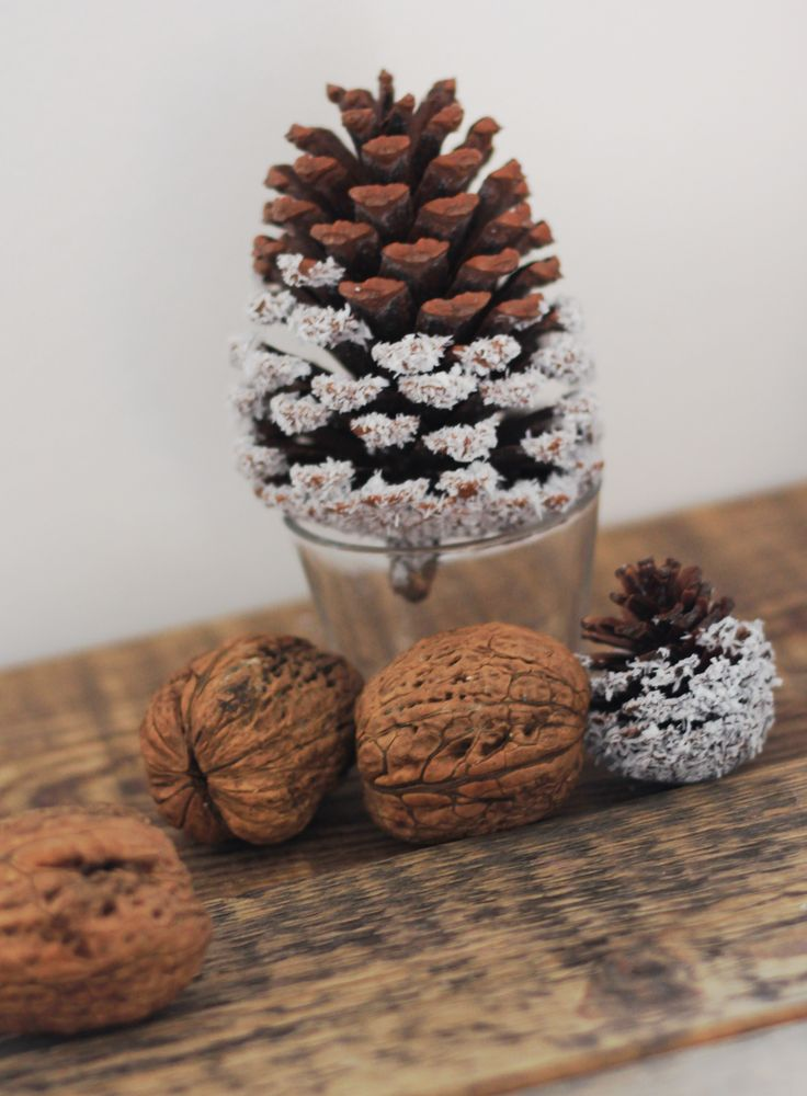 Christmas winter cone is easy decor with coconut. Snowy cone.