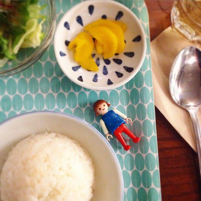 ハンバーグ と プレイモビル #playmobil #vintage #へや #논현동 #헤야 #온나노함바그