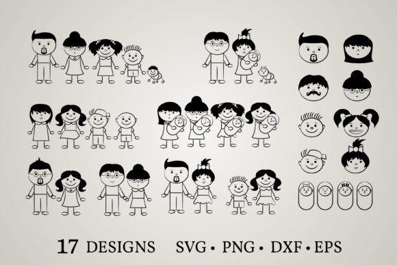 Stick Family Graphic By Euphoria Design Creative Fabrica