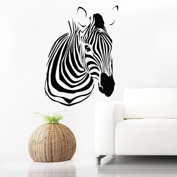 Muro decalcomanie Zebra animali giungla Safari Africano Childrens Decor vinile adesivo Wall Decal vivaio camera murales sala giochi Art SV6123 per bambini