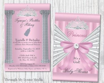 Bling Baby Shower Invitations Diamond by ThroughMyLynnzDesign