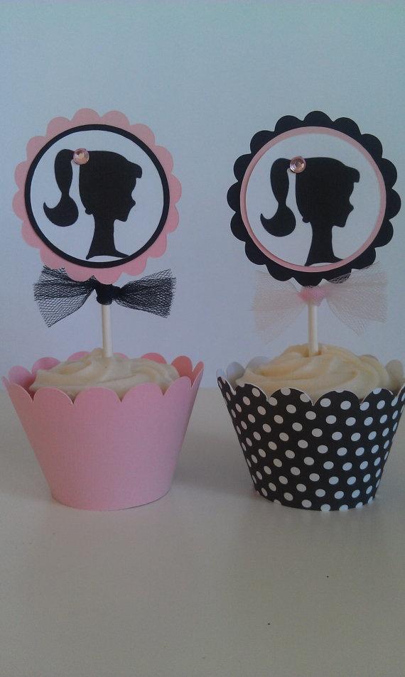 Vintage Barbie Cupcakes