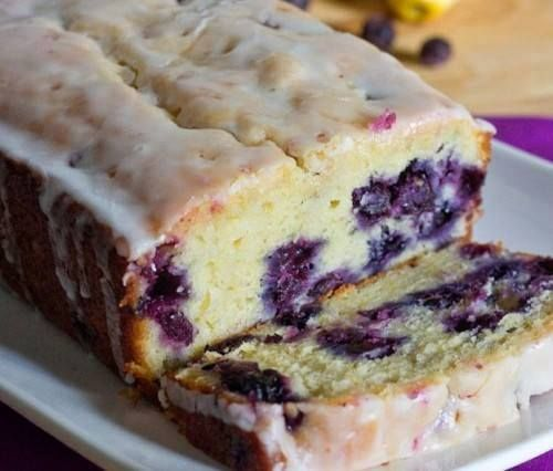 """Photo: Lemon Blueberry Bread - All I can say is """"INCREDIBLE""""!! ~~ *To Save this recipe, simply Share it to your timeline*  Ingredients: 1/3 cup melted butter  1 cup sugar  3 tablespoons lemon juice  2 eggs  1 1/2 cups all-purpose flour  1 teaspoon baking powder  1 teaspoon salt  1/2 cup milk  2 tablespoons grated lemon zest  1/2 cup chopped walnuts optional 1 cup fresh or frozen blueberries   GLAZE 2 tablespoons lemon juice  1 tablespoon butter melted 1 cup confectioners sugar ..."""