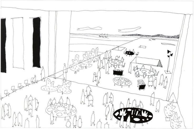 De Kunstlinie Theatre and Cultural Centre (competition sketches), Kazuyo Sejima e Ryue Nishizawa, Almere (The Netherlands) 1998
