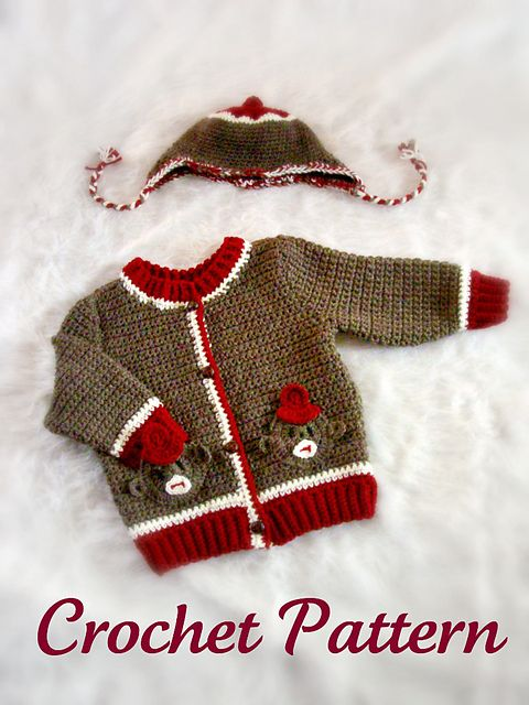 Sock monkey #crochet sweater pattern!
