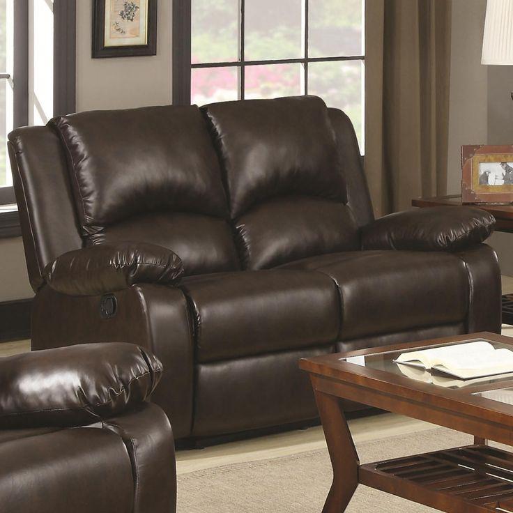 Loveseat reclining dark brown CO-600972
