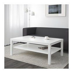 IKEA - LACK, Coffee table, white, , Separate shelf for magazines, etc. helps you keep your things organized and the table top clear.